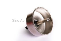 Professional Galvanized Electroplated Hole Saw for Drilling Glass, Tile, Masonry, Artificial Marble with Adaptor